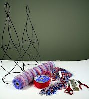 Party Ideas by Mardi Gras Outlet: How to: Red, White and Blue Star Topiary made with Deco Mesh