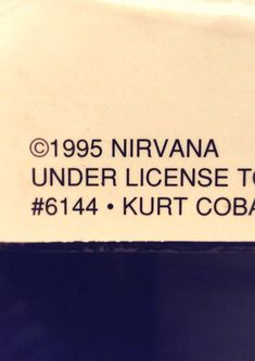 Original Kurt Cobain large heavy wall plaque poster from 1995. Excellent condition, still partly sealed with some wear only on the sides if the plaque. Large 24 by 36. These wall hangings were sold in memory of Kurt a year after his death, liscenced and dated 1995 on the bottom left.