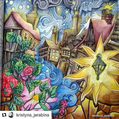 #Repost @kristyna_jerabina with @repostapp ・・・ Old English Village from The Magical City 🏠☺ #lizziemarycullen #themagicalcity #magicalcity #lizziemarycullenthemagicalcity #adultcoloring #adultcoloringbook #coloringbook #coloring #omalovanky #antistresstherapy #arttherapie #art #relax #derwent  #derwentinktense #inktense #inktensepencils #watercolor #england #oldenglishvillage #englishvillage #bayan_boyan #divasdasartes #boracolorirtop #coloringtoolkit