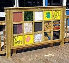 Sensory Play Panels | Sensory tactile pane for your sensory garden