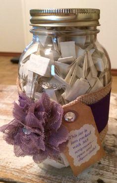 Purple themed 365 daily scripture jar