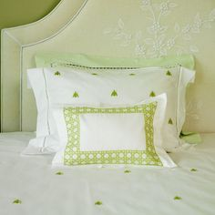 Haute Home Embroidered Bees with Cane Boudoir Sham - beautiful linens at this website (atouchoflace.com) but there are no prices listed. Maybe they sell to the trade only?