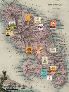 Martinique - Carte des Rhums