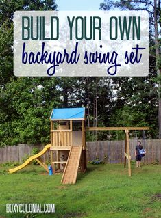 Build your own swingset: complete plans and cost breakdown