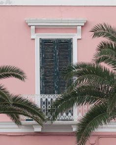 Pink Balcony in Italy