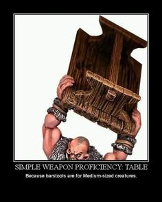 Simple Weapon Proficiency: Table