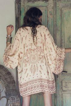 Skull Tribe Kimono - Nutmeg <3 & Want! • Spell & the Gypsy Collective