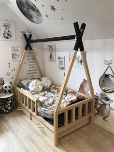 Kinderzimmer Junge TIPI BED - Scandi room, Selecting Your Carpet We've all done it. Diy Toddler Bed, Boy Toddler Bedroom, Toddler Rooms, Baby Boy Rooms, Kids Bedroom, Toddler Beds For Boys, Toddler House Bed, Scandi Bedroom, Baby Room Design