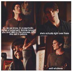 Damon misses Bonnie ! Bring Bon-Bon back!!