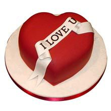 A Good Gift For Fiance Male Red Heart Love You Cake 1Kg Cupcake Cakes