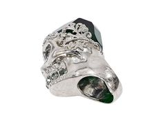 Silver Alexander McQueen Skull Cocktail Ring