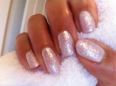 CND shellac in cakepop with Lecente glitter