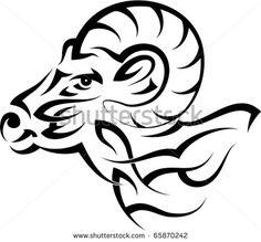 Ram Tribel Tattoo