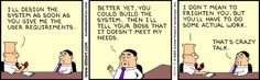 Dilbert: User Won't Give Requirements #1