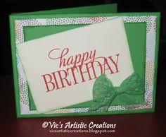 Happy Birthday Card #stampinup #vicsartisticcreations #HappyBirthdayEveryone #cherryontoppaperstack #cucumbercrush
