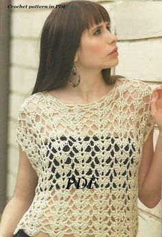 Crochet Lace No Sleeves Top