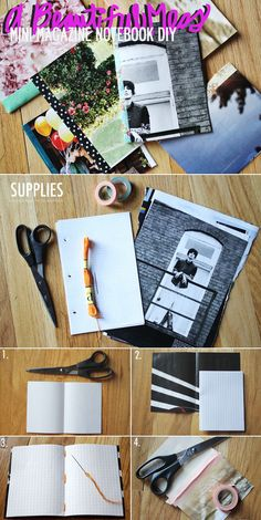 PAPER CRAFTS :: Mini Magazine Notebook DIY Tutorial :: If you have some magazine pages, some notebook paper, washi tape (or even masking or duct tape in a pinch), twine & a glue stick, you can make this cute notebook. | #abeautifulmess #notebook #repurpose #upcycle