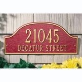 Whitehall Two Line Standard Sized Admiral Address Plaques