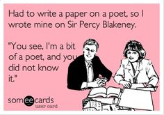 """The Scarlet Pimpernel funny    """"You see, I'm a bit of a poet, and you did not know it!"""""""