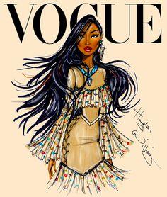 #Hayden Williams Fashion Illustrations #Disney Divas for Vogue by Hayden Williams: Pocahontas