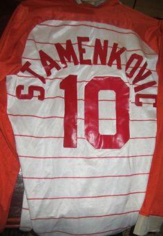 Stan Stamenkovic's  1983-1984 Game worn ROAD Jersey .( BACK )