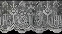Altar Lace No. S301 pattern from Edgings for All Purposes, Clark's O.N.T. J Coats, Book No. 288, in 1952.