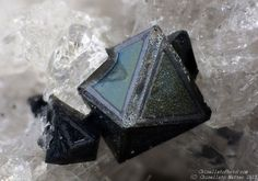 Hercynite, Fe2+Al2O 4,  In den Dellen quarries, Niedermendig, Mendig, Laach lake volcanic complex, Eifel, Rhineland-Palatinate, Germany.   1.13 mm group of Hercynite crystals. Collection & Photo Matteo Chinellato