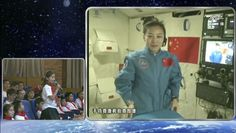 Chinese Astronaut Gives Live Video Lesson From Space