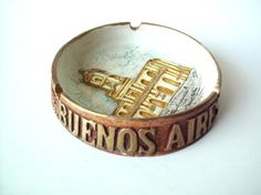 Vintage Buenos Aires Souvenir Ashtray by PoorLittleRobin on Etsy, $8.00