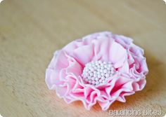 How to make a pink ruffled gum paste or fondant flower