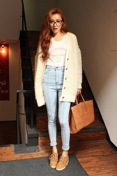 High Waist Jeans & Long Sweater combined.