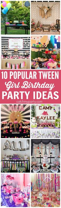cacf1593bbd 10 of the Most Popular Tween Girl Birthday Party Ideas -- includes retro  ideas
