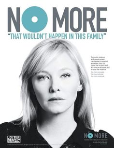 Kelli Giddish, a.k.a. Det. Amanda Rollins from Law and Order: SVU for the No More Campaign, which says no more to silence about the subjects of sexual abuse, child abuse and domestic violence. No more!