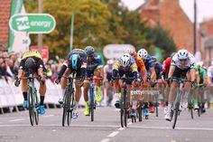#OVOToB 14th Tour of Britain 2017 / Stage 4 Arrival / Dylan GROENEWEGEN (NED)/ Elia VIVIANI (ITA) Grey Point Jersey / Fernando GAVIRIA (COL)/ Alexander KRISTOFF (NOR) European Champion Jersey / Sprint / Mansfield - Newark on Trent (165km)/ OVO Energie / TOB /