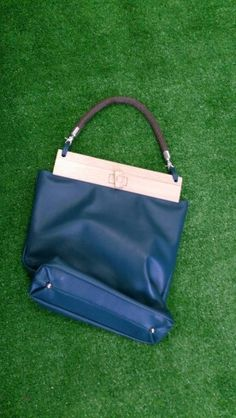 Bag The irony. Wood (oak), leather