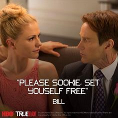 True Blood Season 7 quote from the finale episode. Bill and Sookie at Jessica and Hoyt's wedding.