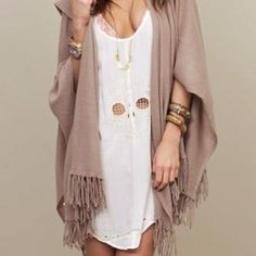 fringed sweater!
