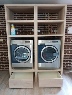 Garage Laundry Rooms, Modern Laundry Rooms, Laundry Room Layouts, Laundry Closet, Laundry Room Organization, Laundry Room Design, Laundry In Bathroom, Laundry Room Pedestal, Kirkland Home Decor