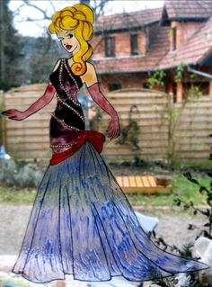 princess Aurora glamour wicoart HANDMADE STAINED GLASS EFFECT WINDOW CLING EASY TO APPLY AND TO REMOVE HAND PAINTED WITH GALLERY GLASS AND GLASS PAINT PEBEO ON AN ELECTROSTATIC VINYL SHEET ONE OF A KIND OOAK