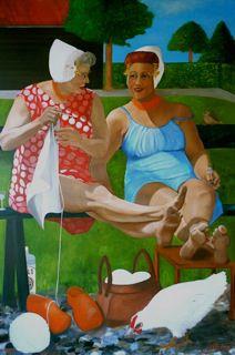 Heerlijk in de zon.(doeken van Yan) #Zeeland #Walcheren My Roots, My Heritage, Netherlands, Summertime, Pop Art, Birthday Cards, Knitting, Fun, Friendship