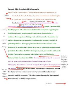 how to write an annotated bibliography   Template Pinterest