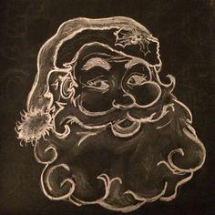 Santa  Chalkboard art                                                                                                                                                                                 More