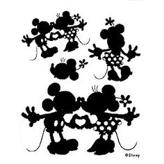 Mickey & Minnie Silhouette