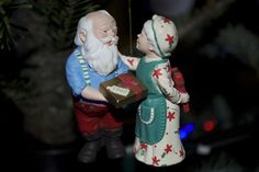 Mr. and Mrs. Clause gift exchange ornament