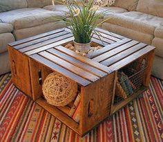 Arredare casa con i materiali di recupero - Tavolino basso