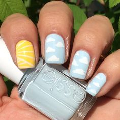 sunny days and clear skies mani