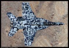 F/A-18 Super Hornet in Centennial of Naval Aviation commemorative camo.