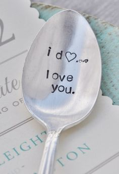 I Do Love You Handstamped Vintage Spoon with by jessicaNdesigns