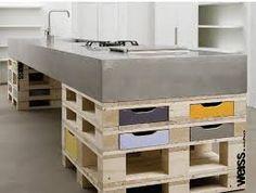 Risultati immagini per piano cucina in cemento