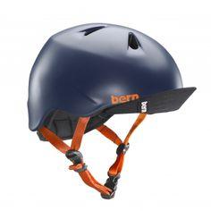 Bern Nino Kids Bike Helmet Satin Navy